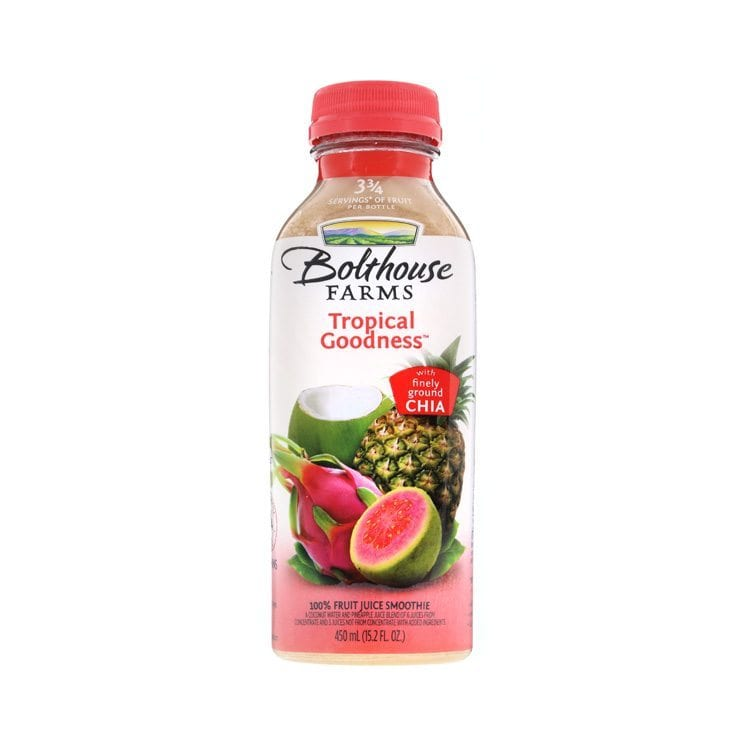 single still shot bolthouse farms tropical goodness beverage product photography example