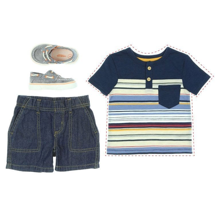 capturing image separation of kids clothing with shoes shorts and shirt fashion and apparel product photography example