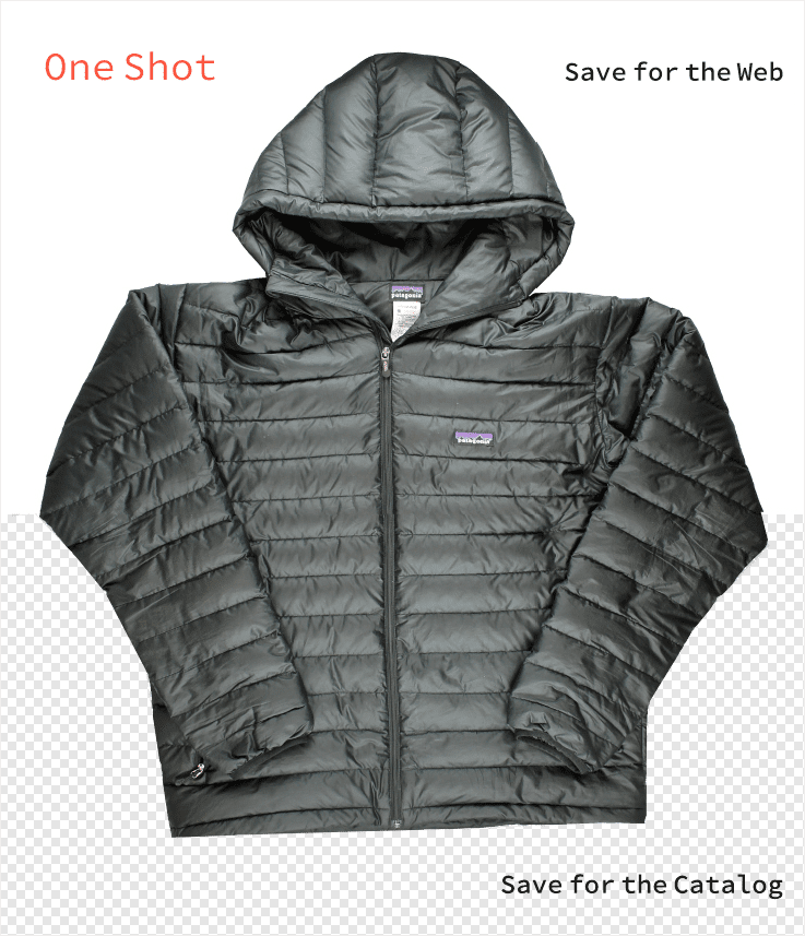 still image of black puff jacket for winter clothing snow and rain fashion and apparel product photography example