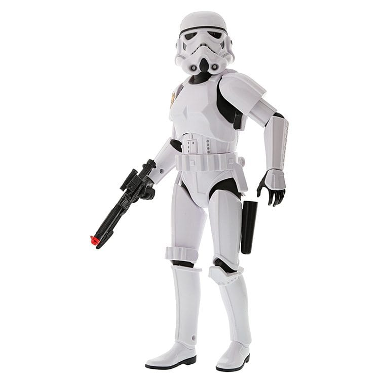 Ortery eCommerce Product Photography Video Example of Star Wars Storm Trooper white with action fire arm gun posed