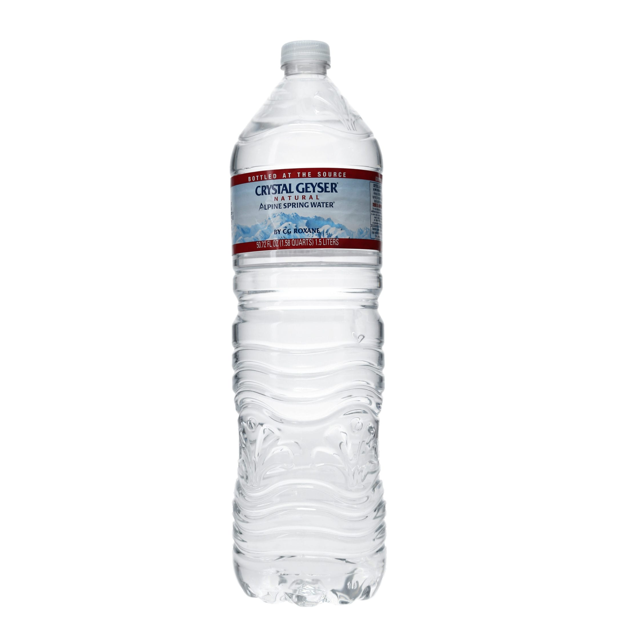 Ortery photography example grocery product clear water bottle shot in PhotoBench 280 on a transparent background