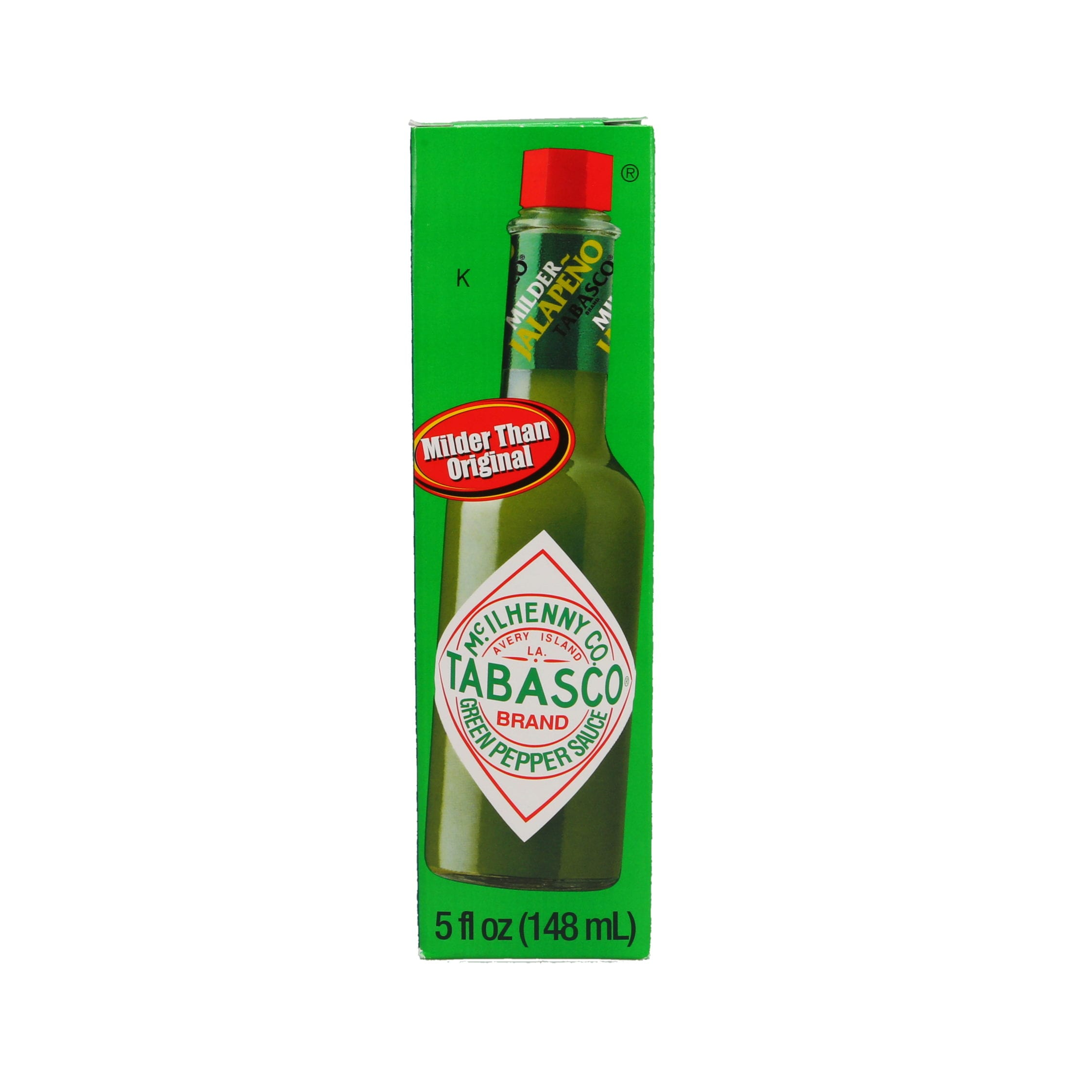 Ortery photography example grocery industry green tobasco on pure white