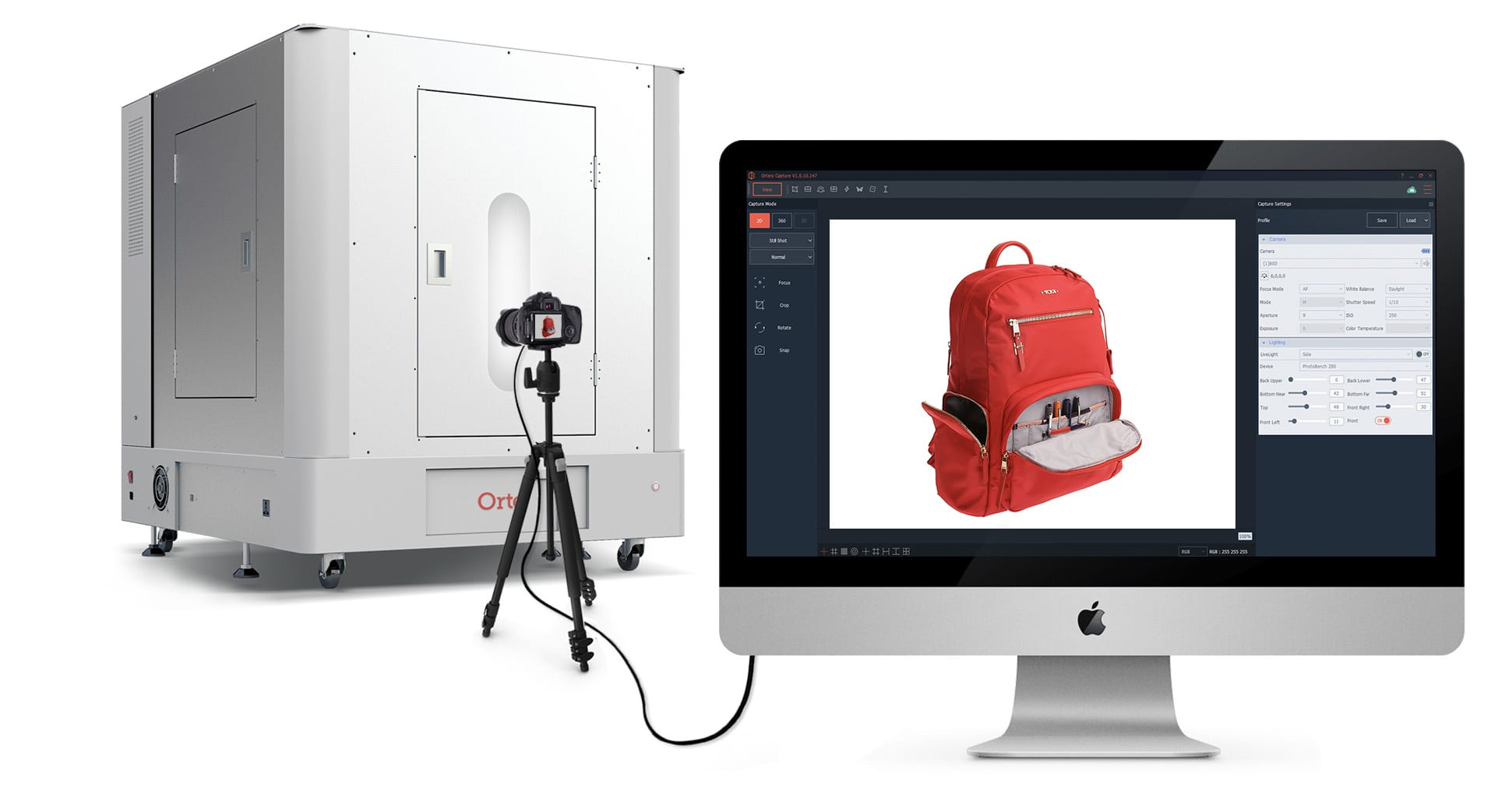Product Photography Solutions - Software Controlled PhotoBench 280 - 360 Product Photos