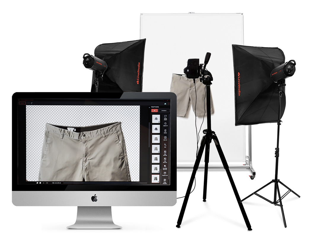 Ortery flat-lay and hanging clothing photography systems