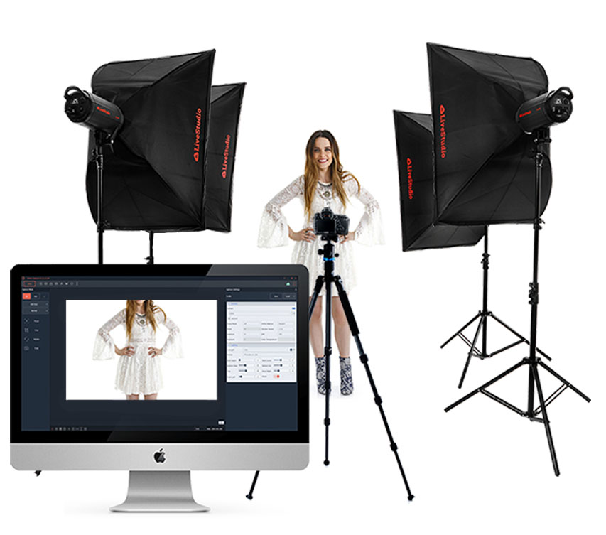 LiveStudio clothing photography light kits by Ortery